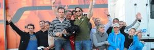 """L'équipage de la """"179"""" sur la 2ème marche du podium - 8 heures de Dijon 2014"""