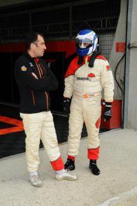 Stéphane (TREMIER) et Pascal (ROUX) avant un relais aux 8H du Mans