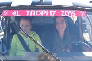 Justine et Anne sophie - Départ du 4L Trophy 2015 - Biarritz