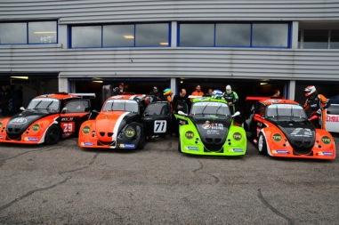8H de Dijon 2015 - Les 4 voitures de ZOSH Compétition (dont 3 EVO1)